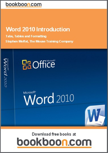 microsoft word 2010 introduction  tabs  tables and