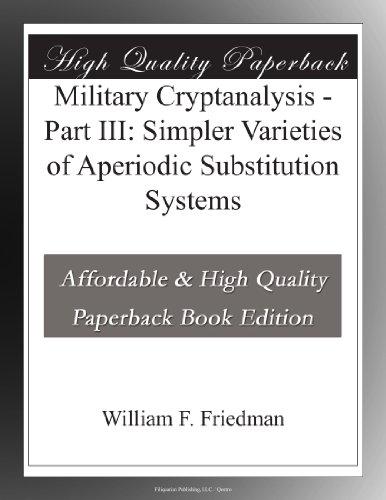 Military Cryptanalysis: Monoalphabetic Substitutui Systems